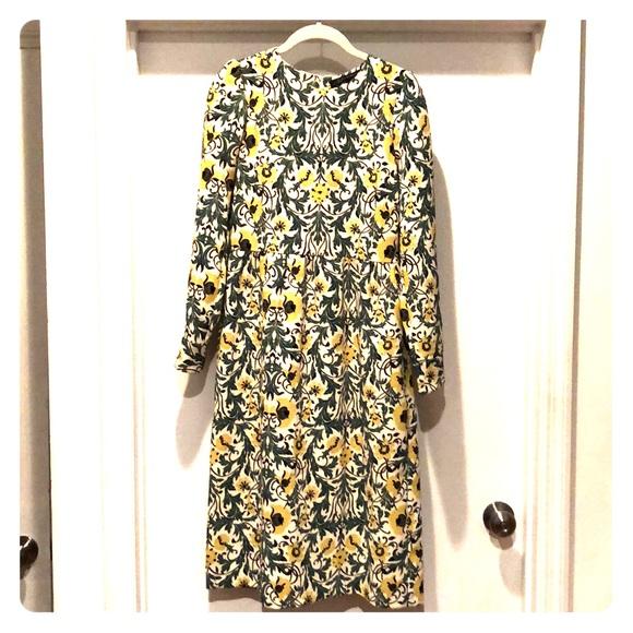 Zara Dresses & Skirts - Zara Floral Print Midi Dress SZ M